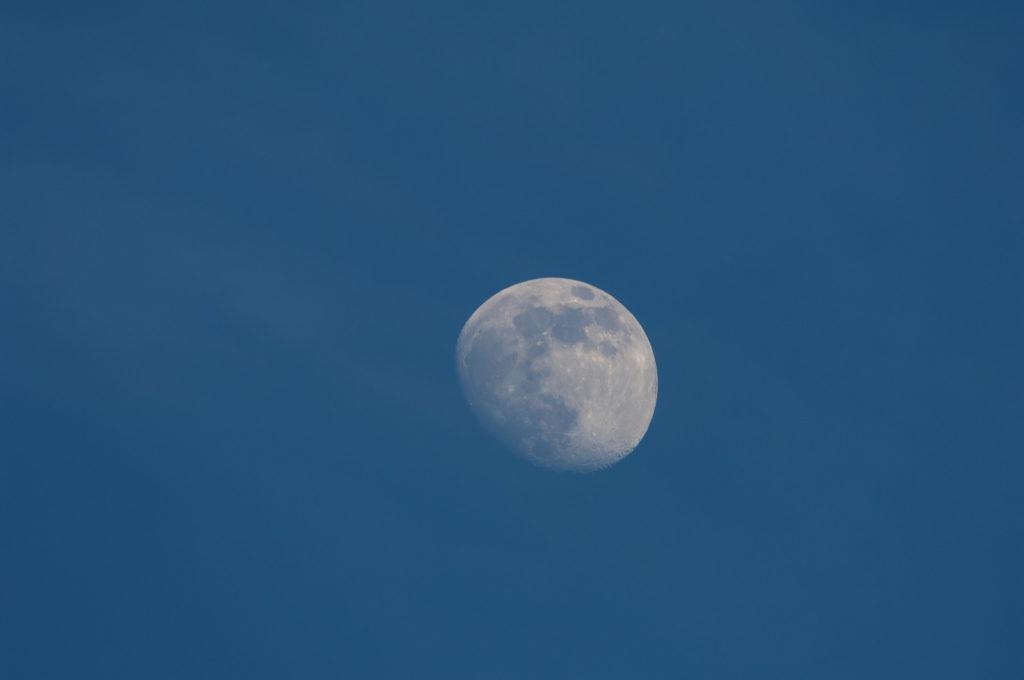 空に浮かぶ月