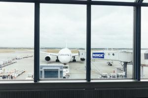 駐機中の航空機
